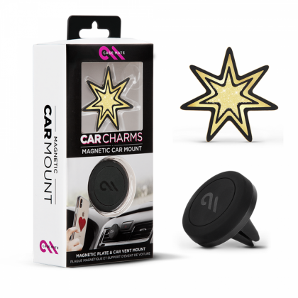 Case Mate Universal Magnetic Car Charms (Gold Starburst)