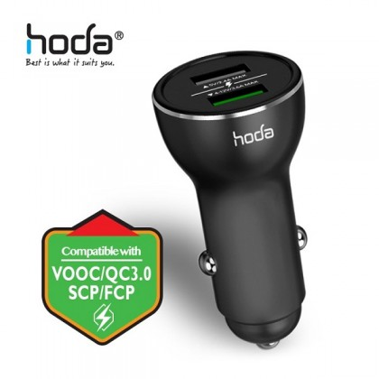 Hoda - SC-A Dual Smart Fast Car Charger Oppo VOOC+QC3.0