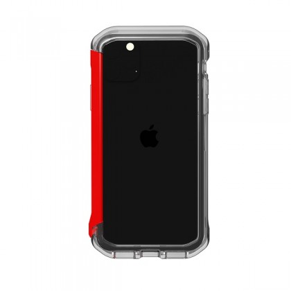 Apple iPhone 11 Pro Max Element Case Rail - Clear/Solid Red