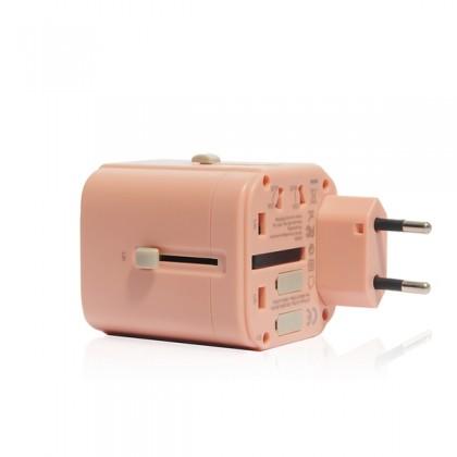 Monocozzi | Bon Voyage | Travel Adaptor 4.5A Dual USB & USB-C - Charcoal