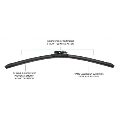 "PIAA Si-Tech Silicone Flat Wiper Blade (26"")"