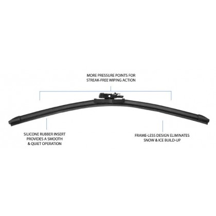 "PIAA - Si-Tech Silicone Flat Wiper Blade (Single : 24"")"
