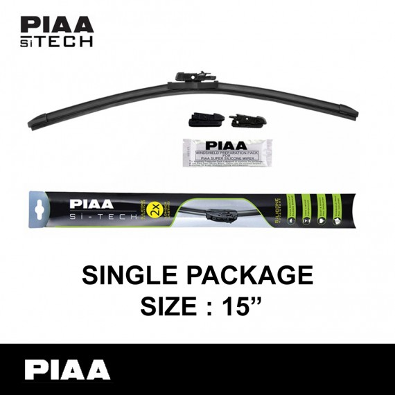 "PIAA - Si-Tech Silicone Flat Wiper Blade (Single : 15"")"