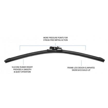 PIAA - Si-Tech Silicone Flat Wiper Blade (Single : 17