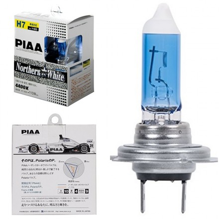 PIAA - H7 White Northern Star 4400K JDM Halogen Light Bulbs