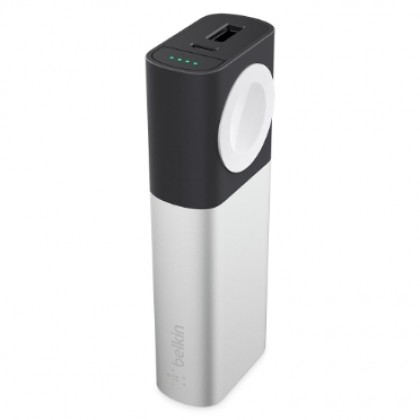 Belkin - Valet Charger™ Power Pack 6700 mAh for Apple Watch + iPhone