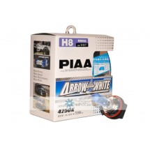 PIAA - H8 White Arrow Star 4250K Halogen Light Bulbs