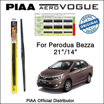 "PIAA - Aero Vogue Silicone Wiper for Perodua Bezza (21""/14"")"