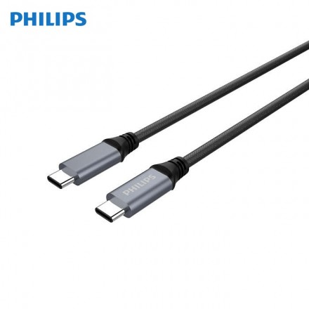Philips - DLC4530CB Sync & Charge Cable (USB-A - C) 1M