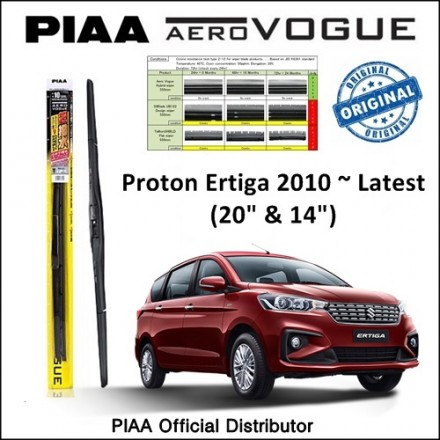 "PIAA - Aero Vogue Silicone Wiper for Proton Ertiga (20""/14"")"