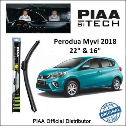 "PIAA - Si-Tech Silicone Wiper for Perodua Myvi 2018 (22""/16"")"