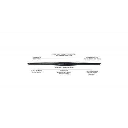 """PIAA - Aero Vogue Silicone Wiper (Combo : 22"""" & 16"""")"""